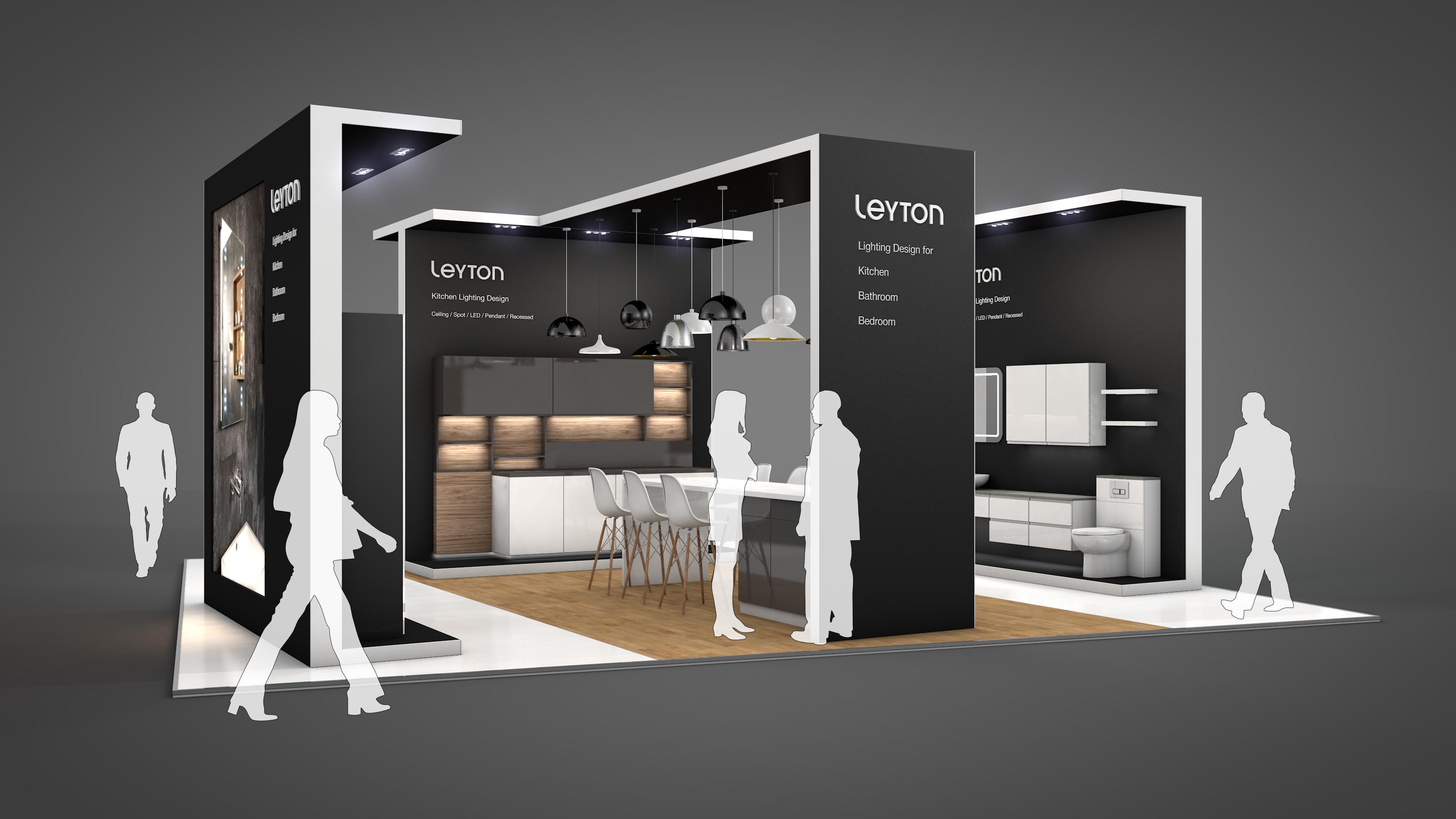 Leyton Lighting KBB 2018 HU3D Lighting Exhibition Design