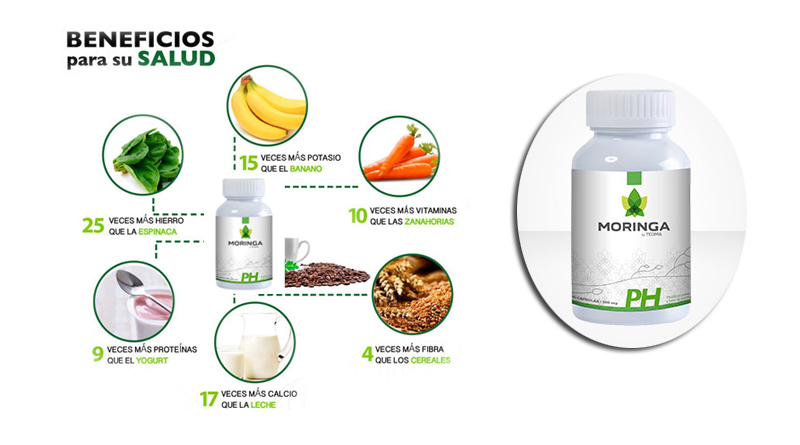Moringa PH Capsulas Naturales by teoma