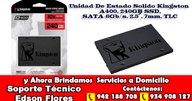 Estado Solido Kingston A400 240GB SSD Ayacucho