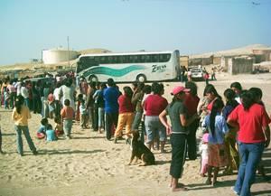 Donanción a pobladores de Pisco