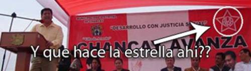 Juanelo aprovechó una ceremonia institucional para hacer propaganda al Apra.
