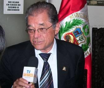 Doctor Luís Fernando Izquierdo Vásquez , rector de la Universidad  Mayor de San Marcos