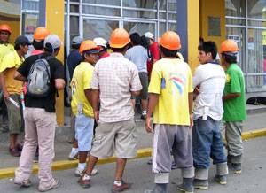 trabajadores de contruccion civil