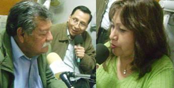 En cabina: El conductor Anibal Morales, el Gerente General Francisco Nieves y  su esposa Doña Nancy