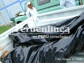 Delincuentes llegaron cadáver al Hospital de Huaral