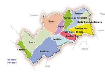 Mapa de Huaral