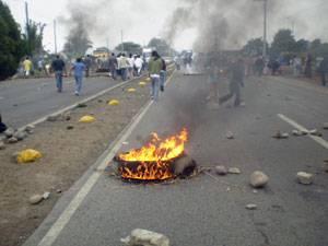 Bloquearon la carretera Panamerica Norte