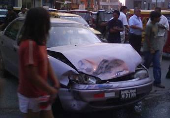 Auto que sufrió en mayor daño.