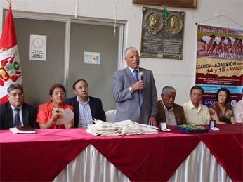 Palabras del Dr. Pedro Cotillo Decano de la Facultad de Farmacia y Bioquímica de la UNMSM, en representación del Sr. Rector de la UNMSM Dr. Luis Izquierdo.