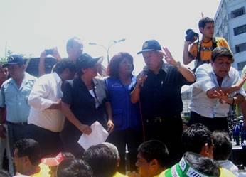comite de la Movilización del 12 de marzo en la ciudad Lima
