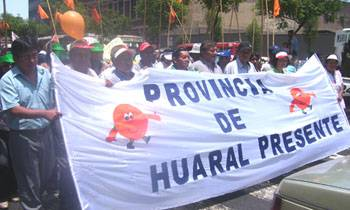Marcha al Congreso el día 12 de marzo huaral también se hizo presente
