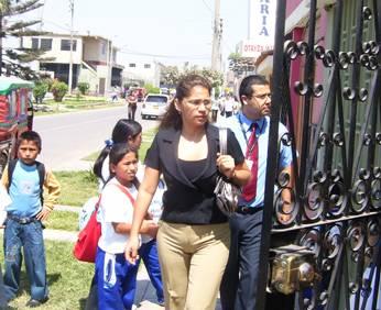 Representantes de la Fiscalía de Huaral