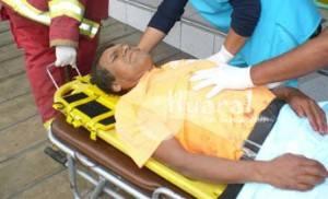 El sr. Eloy Morales fue trasladado al nosocomio chancayano.