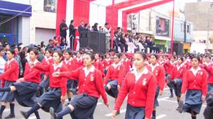 Foto archivo: desfile escolar.
