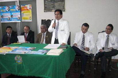 """Conferencia de Prensa  """"Huaral, unido contra la influenza""""."""