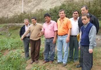 Regidores de Huaral y el Gerente de Emapa Huaral.