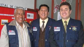 Alcalde de Huaral, alcalde de Chancay y el dr. Hernando Hidalgo de COFOPRI