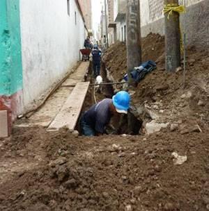 Mejoramiento de redes y conexiones de agua potable y alcantarillado del Pasaje 28 de Julio.