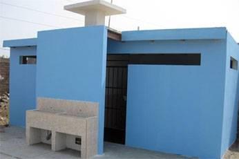 Servicio higiénicos del cementerio municipal.