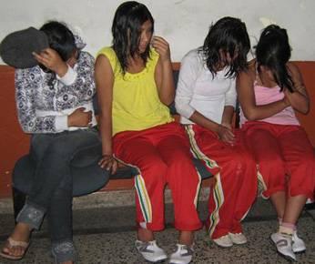 Alumnas de la Institución Educativa Andrés de los Reyes.