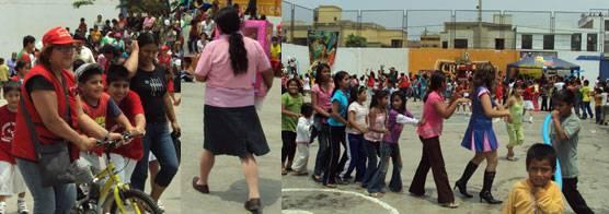 Los niños: ganaron premios y participaron de juegos y concursos.