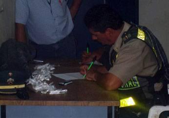 Droga incautada por la policía de Huaral.
