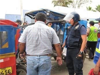 Mototaxi fue dirigida al déposito.