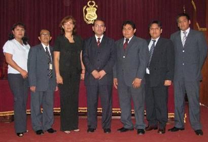 Nueva Junta Directiva y el Presidente de la Corte de Huaura.