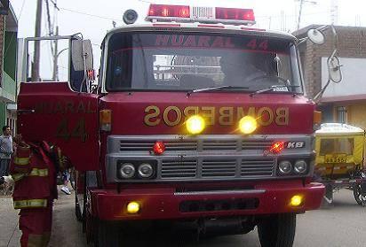 Unidad de bomberos de Huaral.