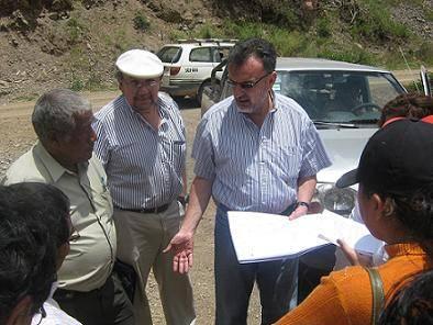 Alcalde de Huaral y empresarios interesados del proyecto.