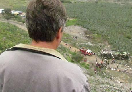 EL CANDIDATO FUE TESTIGO DEL ACCIDENTE EN MATUCANA