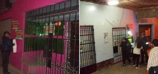 Clausuran dos video pub por infringir normas en Huaral