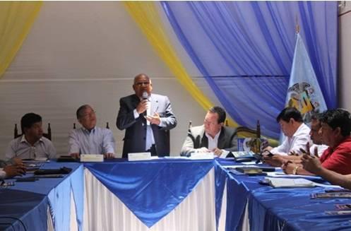 Encuentro de alcaldes de la Macomunidad Municipal Lima Norte.
