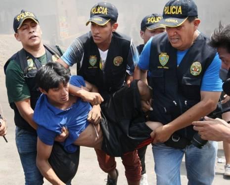 60 detenidos por desmanes registrados en protesta contra peaje de Puente Piedra