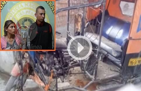 Capturan usureros colombianos que incendiaron mototaxi de uno de sus deudores en Huaralenlinea.com
