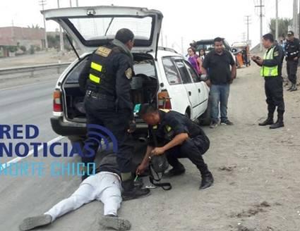 Tras balacera caen dos presuntos  raqueteros en Chancay
