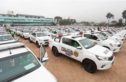 Entregan 367 patrulleros a la PNP para reforzar seguridad ciudadana