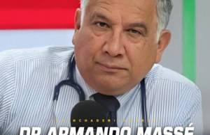 Médico Armando Massé informó que dio positivo al COVID-19