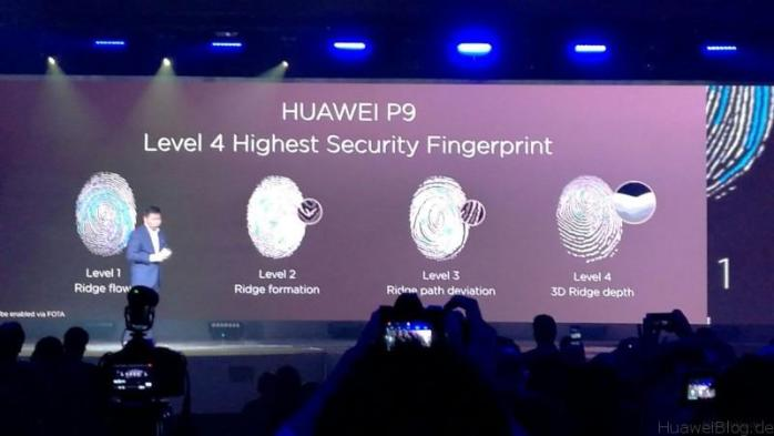 Huawei P9 Präsentation London - Höchste Sicherheit beim Fingerprint-Sensor