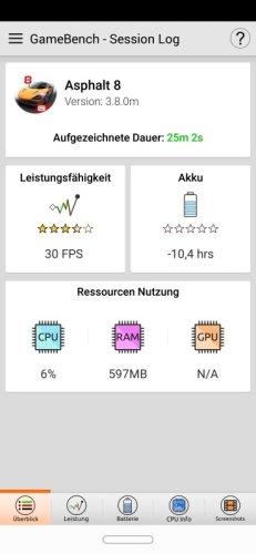 Huawei Mate 20 Lite GameBench