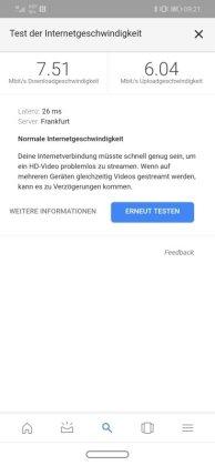 Huawei Mate 20 Lite LTE Speed