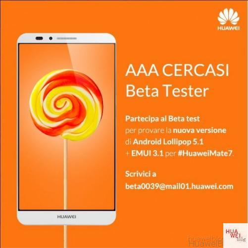 Huawei Mate 7 Android 5 Lollipop Beta Test