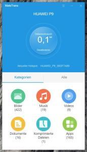 Huawei MateTrans WiFi Hotspot Verbindung