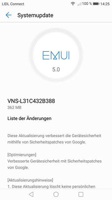 Huawei P9 Lite B388 VNS-L31C432B338 Firmwware OTA Update