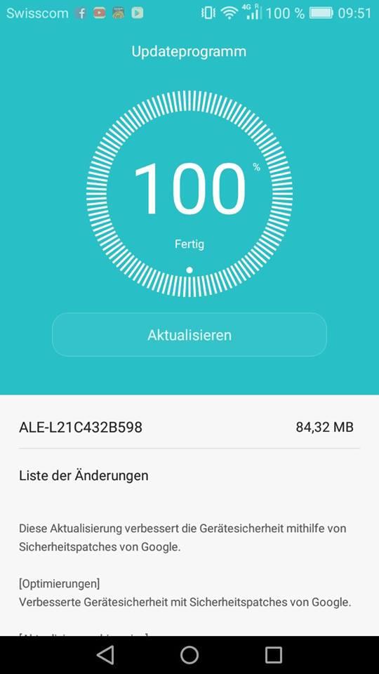 Huawei P8lite Firmware Update ALE-L21C432B598