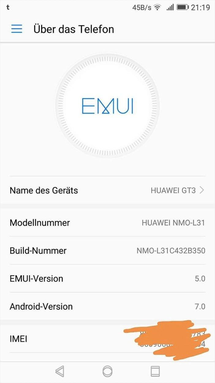 Huawei GT3 Nougat Android7 EMUI 5 Update OTA