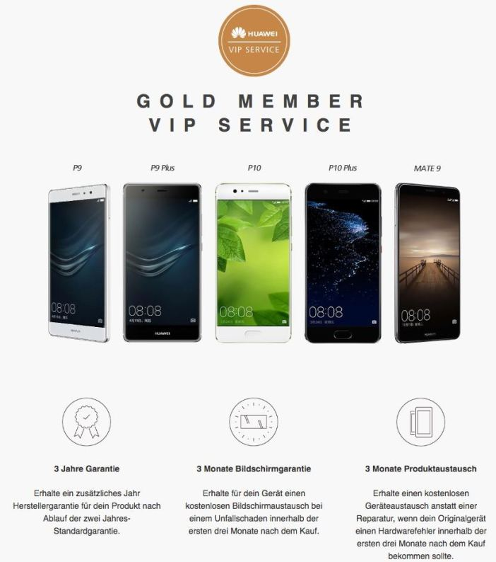 Huawei Gold Member VIP SERVICE