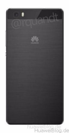 Huawei P8 Lite schwarz Rückansicht
