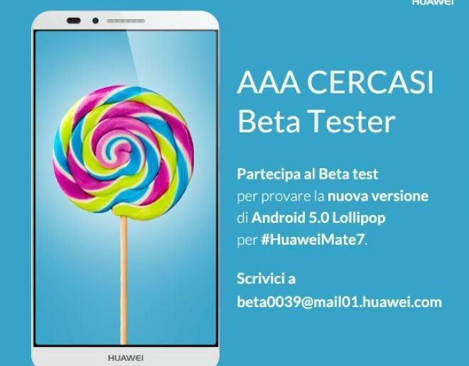 Mate 7 Lollipop Beta Test