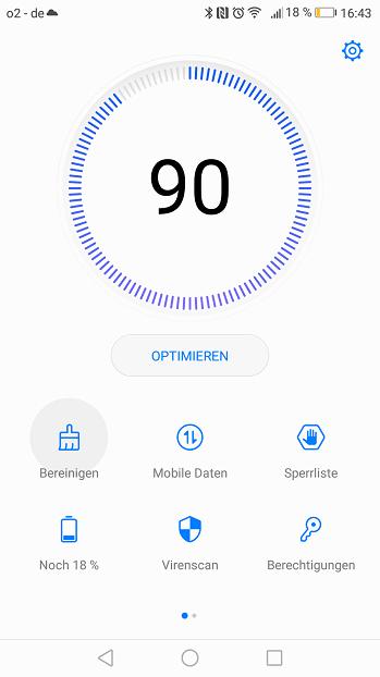 Huawei P8 Lite 2017 Telefonmanager